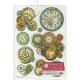 "Stamperia - Decoupage Rice Paper 8.5""X11.75"" - Gear Wheels & Clock (DFSA4242)"