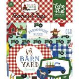 Echo Park - Ephemera Frames & Tags Cardstock Die-Cuts 33/Pkg - Down On The Farm DO182025