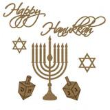 Creative Embellishments - Chipboard - Happy Hanukkah Set
