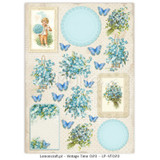 Lemon Craft - Decorative paper - Cut-apart Tags & Images - Vintage Time 020  LP-VT020