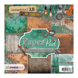 Studio Light - 6x6 Paper Pad - Industrial 3.0, 9 Designs/4 Each (PPIN102)