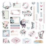 Prima - Ephemera & Stickers 40 pieces - Poetic Rose 631734