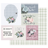 Prima - 12x12 Double-Sided Cardstock - Poetic Rose - Mixed Feelings 849061