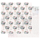 Prima - 12x12 Double-Sided Cardstock - Poetic Rose - Sweet Taste 849078