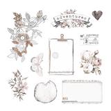 Prima - Ephemera & Acetate 40 pieces - Pretty Pale 631819