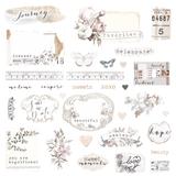 Prima - Ephemera & Stickers - Pretty Pale 631826