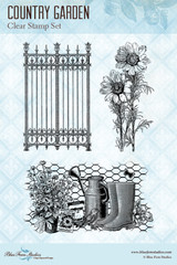 Blue Fern Studios - Clear Stamp - Country Garden (150371)