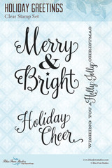 Blue Fern Studios - Clear Stamp - Holiday Greetings (103872)
