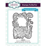 Creative Expressions - Sue Wilson - Stamps to Die For - Roxy's Forget Me Nots (UMS855)