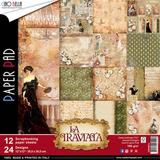 """Ciao Bella - """"12""""X12"""" Double-Sided Paper Collection - La Traviata (CBPM012)"""