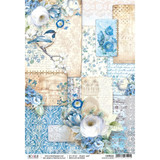 Ciao Bella - Broccato Estense Collection - Ducato D'este - Decoupage Rice Paper Sheet (CBR022)