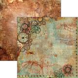 Ciao Bella - 12x12 Double-Sided Cardstock - Codex Leonardo - La Meccanica Del Volo (CBCL12 030 )