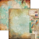 "Ciao Bella - 12""X12"" Double-Sided Cardstock - Repubbliche Marinare - DIARIO Di Bordo (Ship's Log) (CBRM12 045 )"