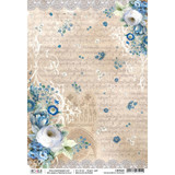 Ciao Bella - Broccato Estense Collection - Rinascimento Estense - Decoupage Rice Paper Sheet (CBR025)