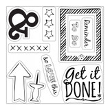 Sizzix - Katelyn Lizardi - Framelits Die Set 9PK w/Stamps - Get it Done (661255)