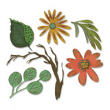 Sizzix - Tim Holtz - Thinlits Die Set 6PK - Funky Floral, Large (664158)