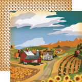 "Carta Bella - Autumn - Double -Sided Cardstock 12""x12"" - Harvest Season (CBATM57002)"