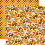 "Carta Bella - Autumn - Double -Sided Cardstock 12""x12"" - Fall Foliage (CBATM57007)"