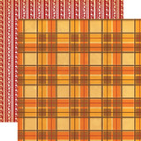 "Carta Bella - Autumn - Double -Sided Cardstock 12""x12"" - Autumn Flannel (CBATM57011)"