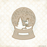 Blue Fern Studios - Chipboard - Winter Snowglobe (654967)