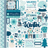 """Echo Park - Element Sticker 12""""x12""""- Hello Winter (HW95014 )"""