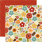 "Echo Park - Fall Is In The Air - Double -Sided Cardstock 12""x12"" - Fall Floral (FIA112010)"