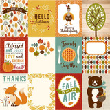 "Echo Park - Fall Is In The Air - Double -Sided Cardstock 12""x12"" - 3x4 Journal Cards (FIA112002)"