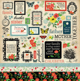 "Carta Bella - Element Sticker 12""x12""- Our Family (CBOF75014 )"