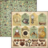 "Ciao Bella - 12""X12"" Double-Sided Paper - Voyages Extraordinaires - Tags and Deco (CBVE12 075 )"