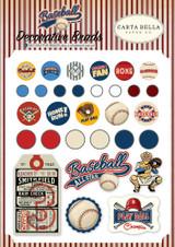 Carta Bella - Decorative Brads - Baseball (CBBA95020)