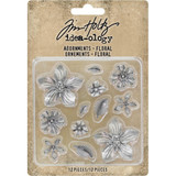 Tim Holtz - Idea-Ology - Metal Adornments - Floral ( TH93789)