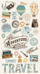 "Simple Stories - Chipboard Stickers 6""X12"" - Simple Vintage Traveler (SVT10460)"