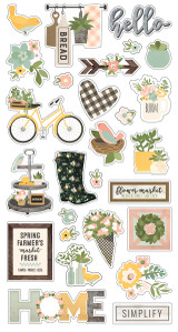 "Simple Stories - Chipboard Stickers 6""X12"" - Spring Farmhouse (PRF10597)"