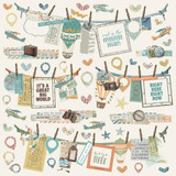 Simple Stories - Cardstock Stickers 12x12 - Simple Vintage Traveler (10730)