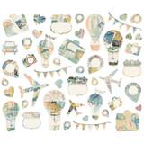 Simple Stories -Bits & Pieces Die-Cuts Ephemera 46/Pkg - Simple Vintage Traveler (10467)