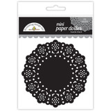"Doodlebug - Mini Paper Doilies 3"" 75/Pkg - Beetle Black (DDM 4607)"