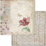 Stamperia - Double-Sided Cardstock 12x12 - Spring Botanic - Spring Tulip (SBB604)