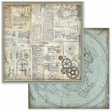 Stamperia - 12x12 Double-Sided Paper - Voyages Fantastiques - Gears ( SBB598)