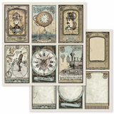 Stamperia - 12x12 Double-Sided Paper - Voyages Fantastiques - Cards (SBB601)