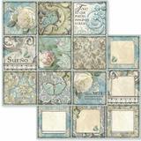 Stamperia - Double-Sided Cardstock 12x12 - Azulejo - Sueno ( SBB605)