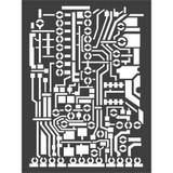 "Stamperia - 7.87"" X 5.91"" Stencil - Circut Board (KSAT07)"