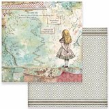 Stamperia - Double-Sided Cardstock 12x12 - Alice Collection - Alice ( SBB582)