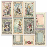 Stamperia - Double-Sided Cardstock 12x12 - Alice Collection - Cards ( SBB584)