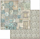 Stamperia - Double-Sided Cardstock 12x12 - Azulejo - Patchwork (SBB607)