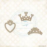 Blue Fern Studios - Chipboard - Heart Crowns (235961)