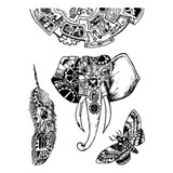 "Stamperia - Stamperia Cling Stamp 5.90""X7.87"" -  Mechanical Animals ( WTKAT03)"