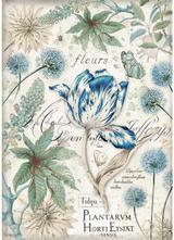 Stamperia - Decoupage Rice Paper A4 - Blue Tulip (DFSA4355)