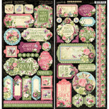 "Graphic 45 - Cardstock Stickers 2 - 6""X12"" Sheets - Bloom (G4501875)"