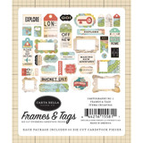 Carta Bella - Frames and Tags 33/Pkg - Cartogrophy No 1 (CBCA97025)