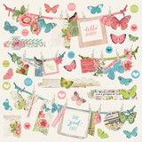 Simple Stories - Banner Sticker Sheet 12x12- Simple Vintage Botanicals (10497)